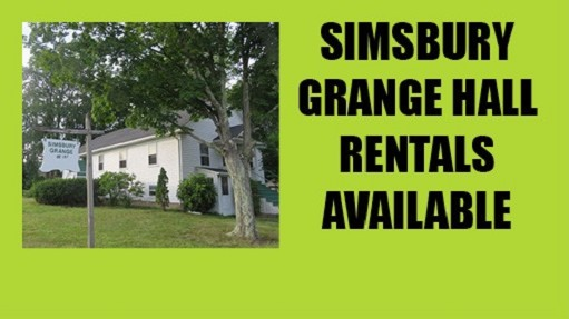 Simsbury Grange is available to rent for your special event or your monthly meeting! Reasonable rates. Click for more information.