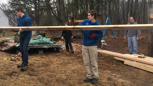Thanks to Eagle Scout Jack Donahue and his fellow scouts from Troop #76 for refurbishing Simsbury Grange's outdoor space with a new roof and gravel base. We can't wait to use it!